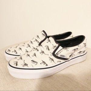 Vans Shoes | Vans Dinosaur Slip Ons